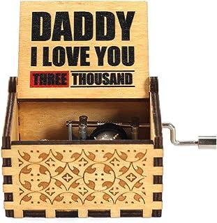 XINGHUIJPN ハンドクランクオルゴールクリスマスバレンタインデー音楽新年の贈り物2021 (Color : DADDY I LOVE YOU)