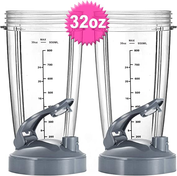 32oz Oversized Cup Set for Nutribullet 600W 900W