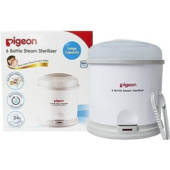 Pigeon 6 Bottle Steam Sterilizer (White)