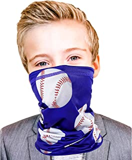 Kids Neck Gaiter Mask Soft Face Covering Scarf UPF 40 Sun...