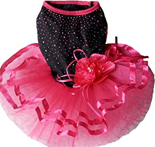 PanDaDa Pet Dog Fancy Dress Bubble Dog Girl Summer Gauze Tutu Dress Skirt Dog Cat Princess Lace Skirt Clothes Dress Up Apparel