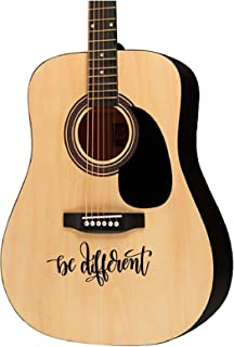 Guitar sticker decal - Be different - violin electric guitar ukulele designs