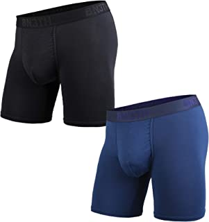 BN3TH Mens 2-Pack Classic Branded Boxer Brief - Black/Navy