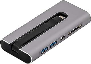 قاعدة فيجينتيك VT300 USB-C المحمولة - 4K HDMI 60HZ ، 2X USB 3.1 ، 1x USB-C PD ، Ethernet، قارئ بطاقة SD