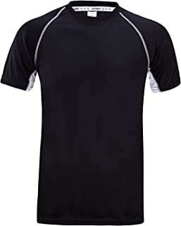 ZITY Teen Short Sleeve Athletic T-Shirt Quick-Dry Round Neck Sports Tee Tank Top