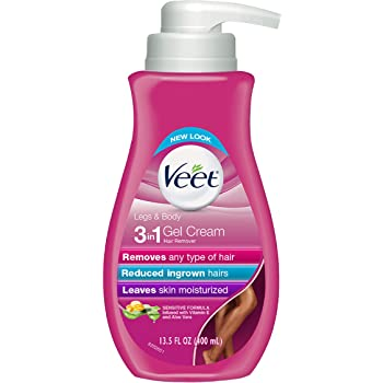 Hair Removal Cream – VEET Silk and Fresh Technology Legs & Body Gel Cream Hair Remover, Sensitive Formula with Aloe Vera and Vitamin E, 13.5 FL OZ Pump Bottle (Pack of 2)