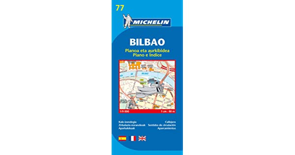 Bilbao City Plans Michelin City Plan 77