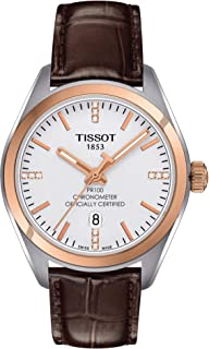 tissot Women's Black Dial Leather Band Watch - T101.251.26.036.00