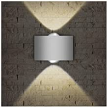 LED Exterior Wall Lighting Fixtures,INHDBOX Interior Wall Sconces Lamp Waterproof Up Down Light White Outdoor/Indoor Decor 85-265V (2W-Warm Light)