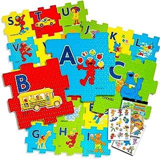Sesame Street Giant Floor Puzzle for Kids -- 3 Foot Foam Puzzle with Bonus Sesame Street Stickers (Sesame Street ABC)
