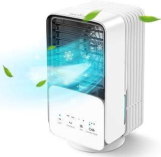 AYOGG Climatiseur Portable, 700ml Refroidisseur d'air, 4 en 1, Humidificateur, Purificateur d'air, Ventilateur Silencieux,...