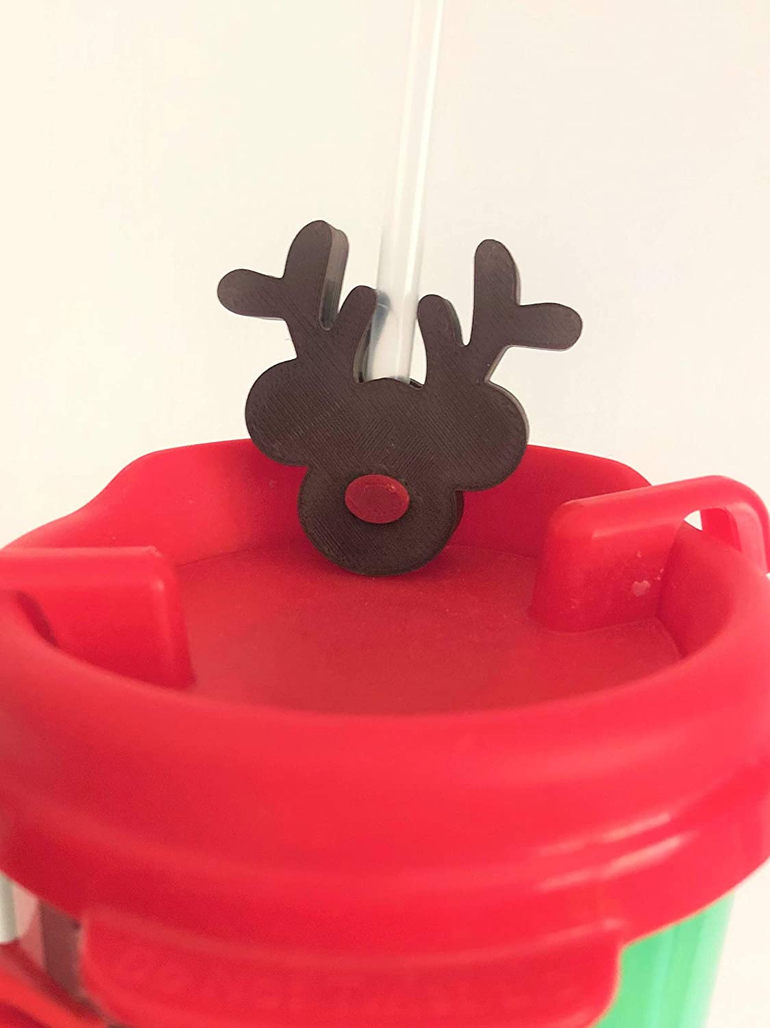 3D Printed Christmas Red Nosed Head Decorat Straw Mouse Reindeer Las Ranking TOP7 Vegas Mall