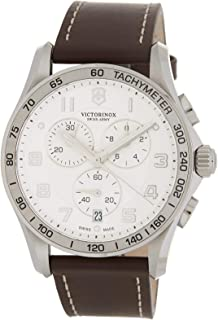 Victorinox Chrono Classic Quartz Movement Silver Dial Men's Watch 241654.2