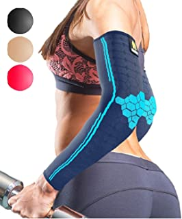 Sparthos Arm Compression Sleeves - Aid in Recovery and Support Active Lifestyle - Innovative...