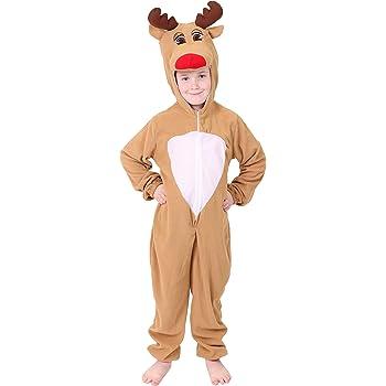 ILOVEFANCYDRESS Disfraz de reno Rudolph para niño, talla única ...