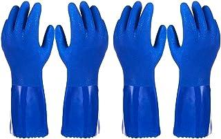 دستکش خانگی لاستیکی - دستکش آشپزخانه ظرفشویی به روش پنبه ای (متوسط ، 2 جفت)