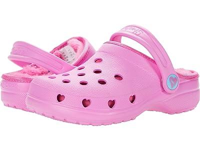SKECHERS KIDS Cali Gear Heart Charmer Faux Fur Lined Clog 308015L (Little Kid/Big Kid) (Pink) Girl