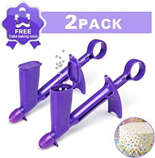 2 Pack Plastic Pearl Applicator, 2 Sizes Convenient and Fast Edible Pearls Fondant Cake Decorating Tool for Sugar Balls Craft, Cake Baking Decoration Etc