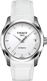 Tissot Women's Couturier Auto's White Dial Color Leather Strap Watch - T035.207.16.011.00