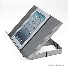 Mind Reader Adjustable and Portable Reading, Book, Tablet, iPad Stand, Metal Resting Document Holder Easel, Black