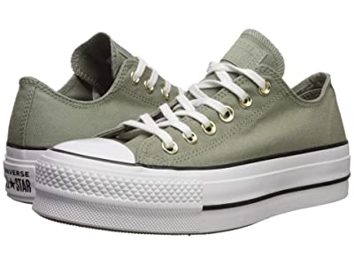 Converse Chuck Taylor All Star Lift Seasonal Canvas Ox (Jade Stone/White/Black) Women