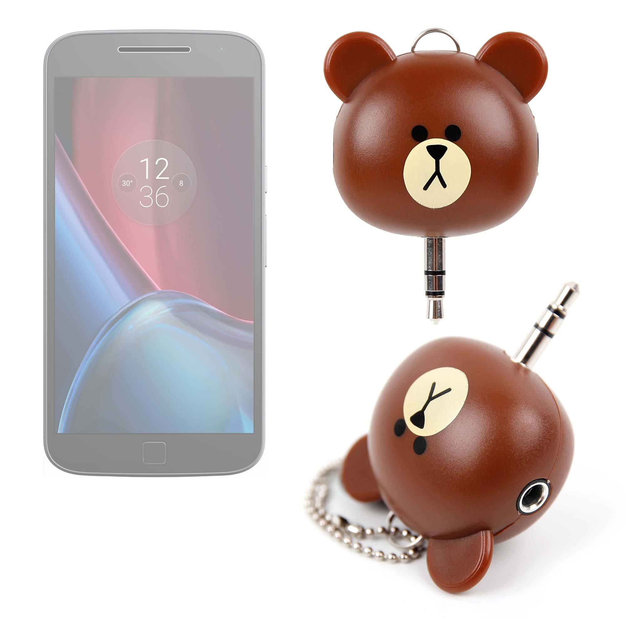 DURAGADGET Divisor de Auriculares con Forma de Osito para Smartphone Lenovo Moto E3,Moto G4 Play, Moto G4 Plus, Moto G4, Moto Z Force, Moto Z: Amazon.es: Electrónica