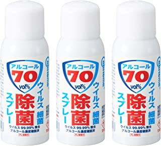 BB HOME アルコール 携帯 アルコールスプレー 70% 除菌 手 指 120ML 3本セット