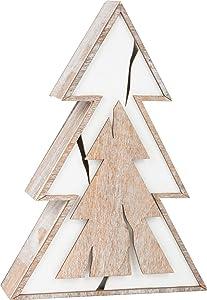 small. f. árbol de Navidad Luminoso, Estilo Shabby Chic, DE Madera, 18x 5,5x 25cm