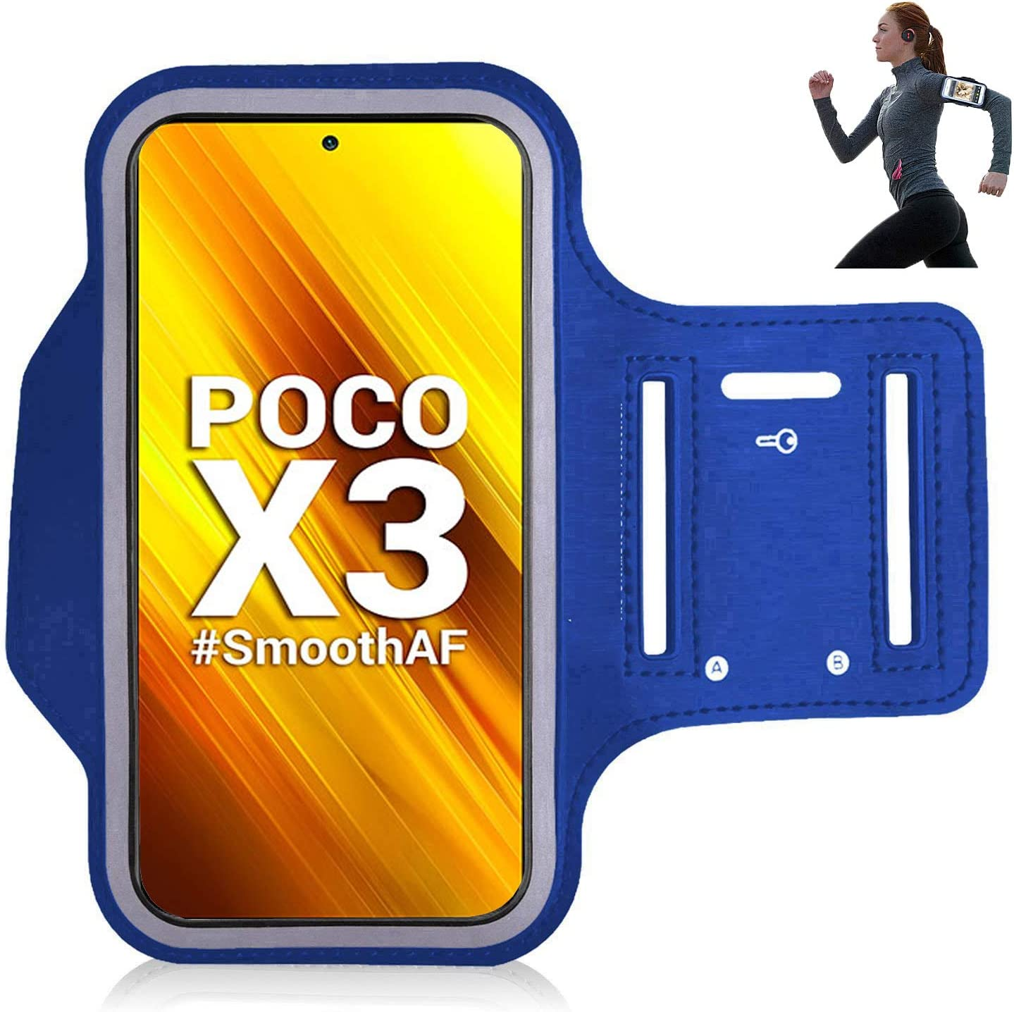 Pour le sport iPro Accessories /Étui brassard pour Xiaomi Poco X3 NFC la course la randonn/ée la marche le jogging lentra/înement et lexercice Noir