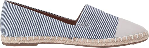 Stripe/Navy Toe Cap