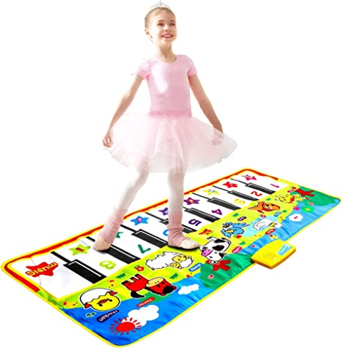 m zimoon Tapis Musical, Tapis de Danse Tapis de Jeu Piano Enfants Tapis de Musique avec des Sons d'Animaux pour Bébés...