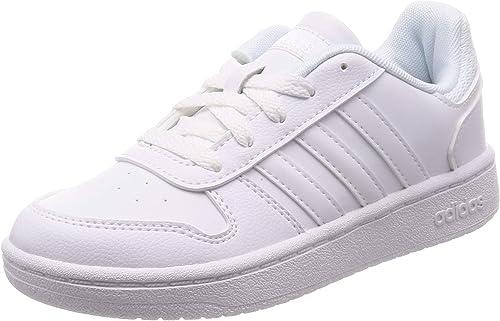 Melodioso escocés Perforar  adidas Hoops 2.0 K F35891 White Unisex Trainers: Amazon.de: Schuhe &  Handtaschen