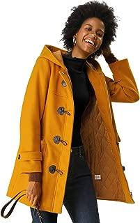 yellow toggle coat