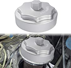 Aluminum Fuel Filter Housing Cap for 2010-2020 Dodge Ram 2500 3500 4500 5500 6.7L Cummins Diesel Engine Silver