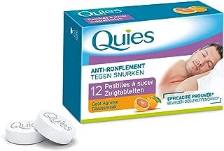 Quies Anti-Snoring Lozenges - Citrus - 2 Packs x 12 Lozenges (24 Lozenges)