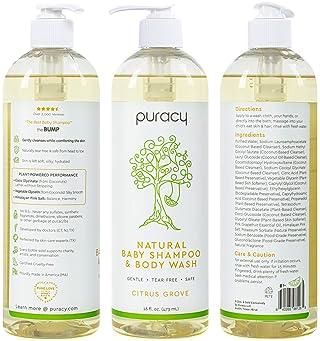 Puracy Natural Shampoo & Body Wash, Plant-Derived Baby Shampoo & Baby Wash, Gentle Soap for Sensitive Skin, Tear-Free...