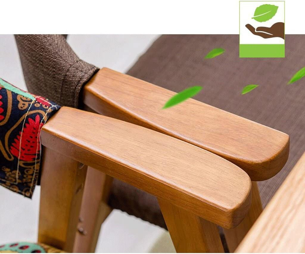 HLD Chaise de salle à manger en bois massif Accoudoir de mode Fauteuil en bois massif Chaise de salle à manger en simili cuir/dossier en simili cuir Chaises (Color : B) A
