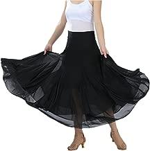CISMARK Elegant Ballroom Dancing Waltz Dance Party Long Swing Mesh Skirt