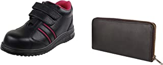 ACME Osmium Leather Safety Shoes and Leather Wallet for Women AA-WL09_Osmium
