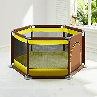 JXXDDQ Baby Playpens,Toddler Fence Indoor Playground, Child Safety Fence Household Portable (Color : Yellow)