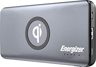 Energizer QE10005CQ 10000mAh Qi Wireless Charger Power Bank, Fast Charging For IPhone and Smartphones, Dual Inputs and Out...