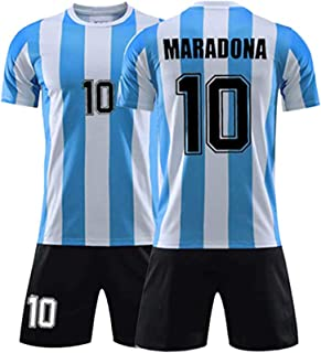 Diego Maradona #10 Argentina Home Soccer Legend Jersey - God's Left Hand,1968 Mexico World Cup Retro Commemorative T-Shirt...