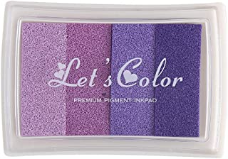 YPSelected Craft Ink Pad Inkpad for Paper Wood Fabric 15 Colors Available for Rubber Stamps (Multi Purple)
