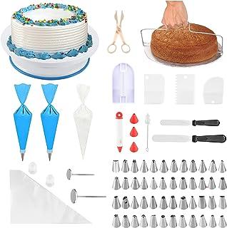 Abimars Lot de 75 Plateau Tournant de Gâteau, pâtisserie Plateau Tournant de Gâteau DIY Ustensiles Kits Décoration pour Gl...
