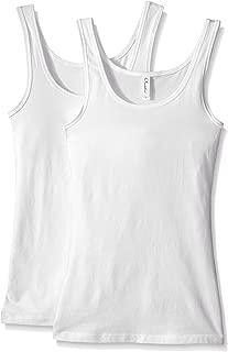 Clementine Apparel 2 Pack Women's Sleeveless Spandex Jersey Premium Tank Tops (3533)