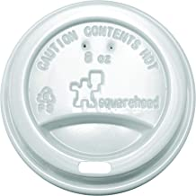 Plastic Lid for 8 ounce paper cup (80mm) White 1000 pieces