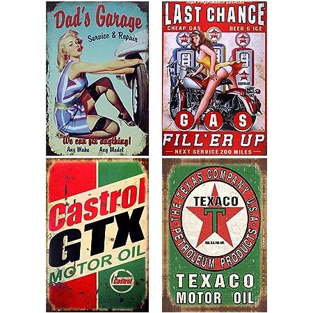 Details about  /Metal Tin Sign round aviation gasoline decor Bar Pub Retro Poster 30cm diameter