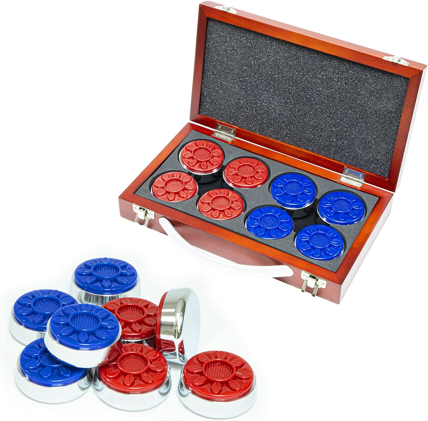 """Shuffleboard Pucks in 2 1 8"""" with Shuf 53mm for Case Trust Special price for a limited time Wood"""