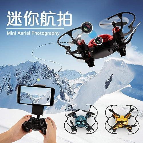 Fennd Zusammenklappbare ferngesteuerte Flugzeuge WLAN Drohnen-Antenne Sprache Vier Achsen Trend tragbar @ rot