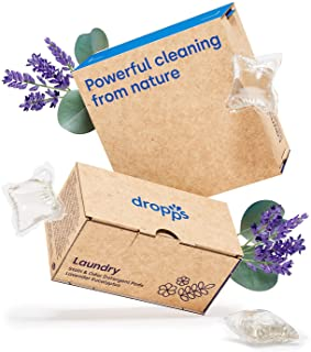 Dropps Stain & Odor Laundry Detergent Pods: Lavender Eucalyptus   140 Count   Keeps Clothes Fresh   HE   Safe & Gentle   P...